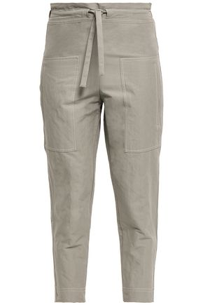 BRUNELLO CUCINELLI Cotton-blend canvas tapered pants