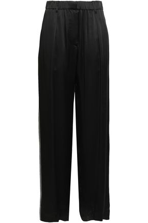 BRUNELLO CUCINELLI Bead-embellished sateen wide-leg pants
