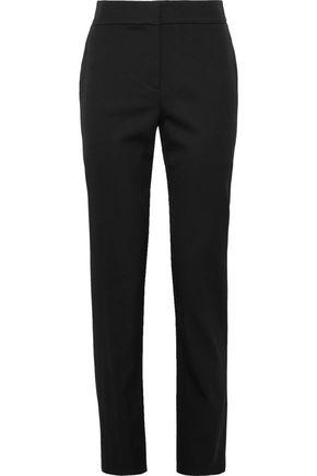 OSCAR DE LA RENTA Stretch-wool slim-leg pants