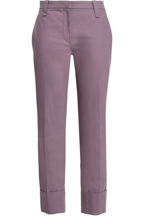 BRUNELLO CUCINELLI Stretch-cotton twill tapered pants