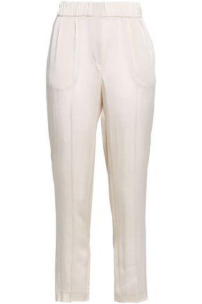 BRUNELLO CUCINELLI Crepe-satin straight-leg pants