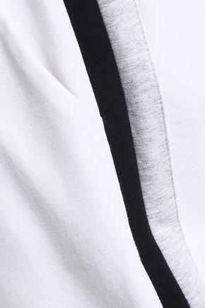 BRUNELLO CUCINELLI Striped stretch-cotton tapered pants