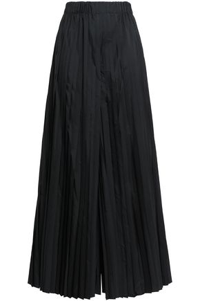 BRUNELLO CUCINELLI Pleated sateen wide-leg pants