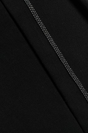 BRUNELLO CUCINELLI Bead-embellished wool-blend wide-leg pants