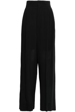 BRUNELLO CUCINELLI Bead-embellished wool-blend wide-leg pants