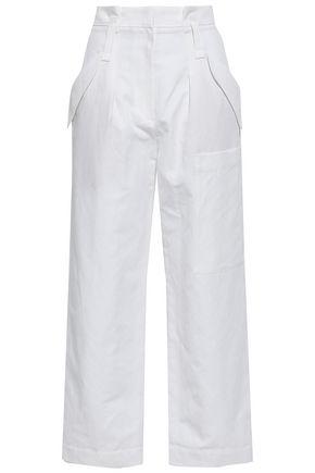 BRUNELLO CUCINELLI Linen and cotton-blend straight-leg pants