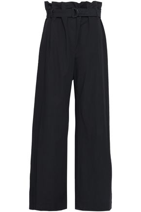 BRUNELLO CUCINELLI Cotton-blend poplin wide-leg pants