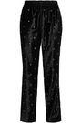 JASON WU Eyelet-embellished velvet tapered pants