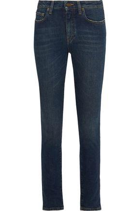 SAINT LAURENT Faded mid-rise skinny jeans