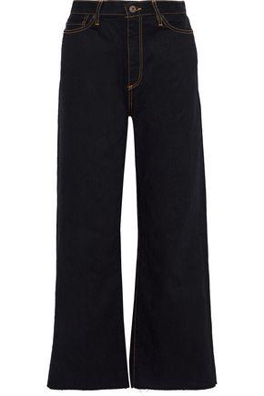 SIMON MILLER Frayed denim wide-leg jeans