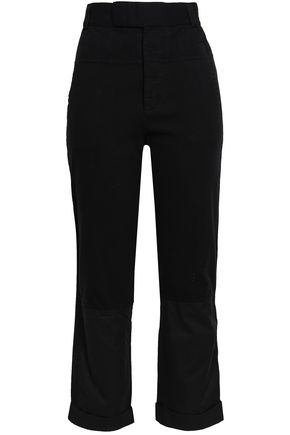 HAIDER ACKERMANN Cotton-jersey, twill and poplin straight-leg pants