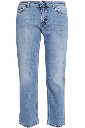ACNE STUDIOS Row Clean cropped mid-rise straight-leg jeans