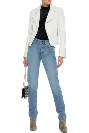 375a12d7e9d SAINT LAURENT Studded high-rise slim-leg jeans