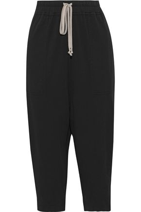 DRKSHDW by RICK OWENS Cropped cotton-jersey harem pants