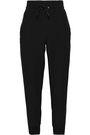 MONROW Satin-crepe track pants