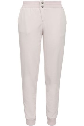 MONROW French cotton-terry track pants