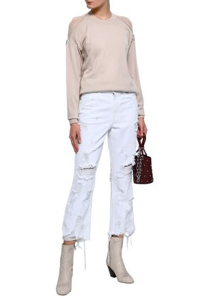 ALEXANDER WANG Grind distressed kick-flare jeans