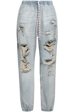 ALEXANDER WANG Distressed faded boyfriend jeans