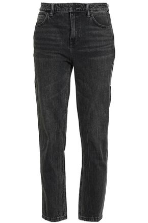 ALEXANDER WANG Zip-detailed high-rise slim-leg jeans