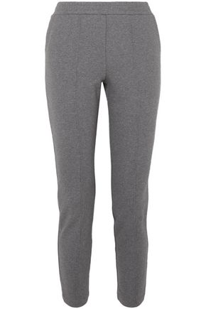 T by ALEXANDER WANG French cotton-terry tapered pants