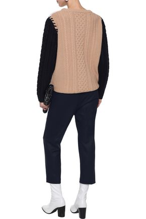CHINTI AND PARKER Cropped wool-blend tapered pants