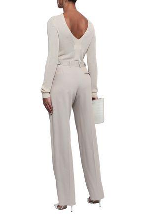 MAISON MARGIELA Cotton and silk-blend twill straight-leg pants