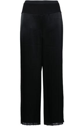 ALEXANDERWANG.T Lace-trimmed satin wide-leg pants