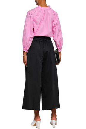 TOME Cotton-blend poplin wide-leg pants