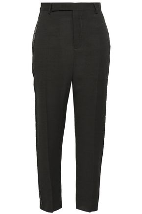 RICK OWENS Easy Astaire cropped wool-blend crepe tapered pants