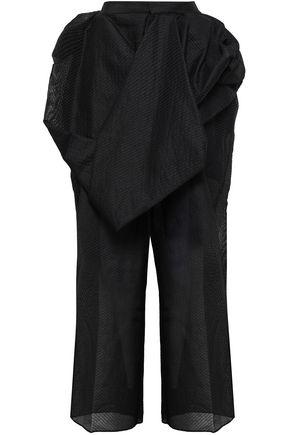RICK OWENS Draped paper-blend jacquard wide-leg pants