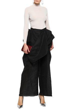 b180c99dad RICK OWENS Draped paper-blend jacquard wide-leg pants