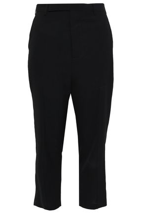 RICK OWENS Cropped crepe tapered pants