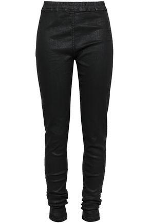 DRKSHDW by RICK OWENS Coated stretch-denim leggings