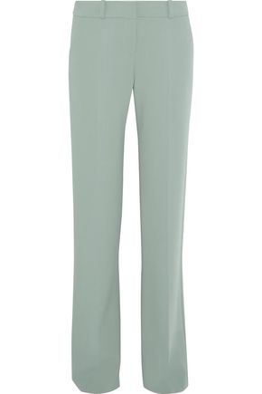 GIORGIO ARMANI Stretch-wool crepe straight-leg pants