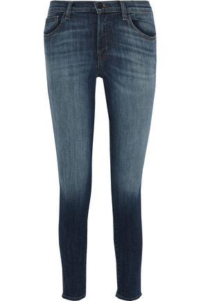 J BRAND Jasper cropped faded mid-rise skinny jeans