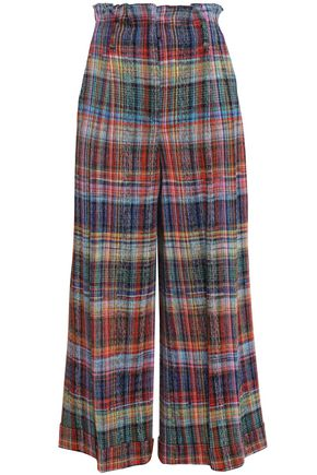 MISSONI Checked cotton wide-leg pants