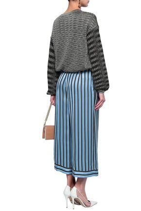 MISSONI Striped satin culottes