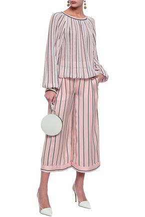 MISSONI Striped satin culottes