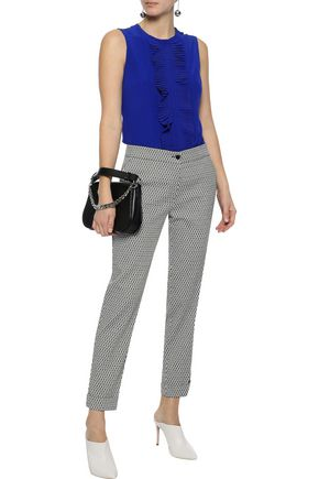 ETRO Cropped jacquard tapered pants