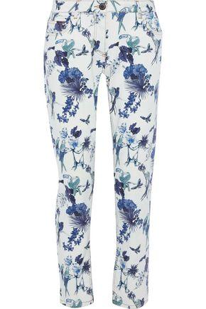 ETRO Printed mid-rise slim boyfriend jeans