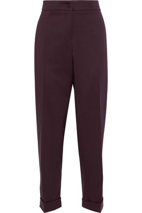 ETRO Sigaretta cropped stretch-wool twill straight-leg pants