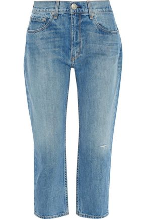 RAG & BONE Cropped distressed boyfriend jeans