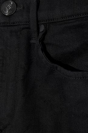 RAG & BONE Cropped metallic-trimmed high-rise skinny jeans