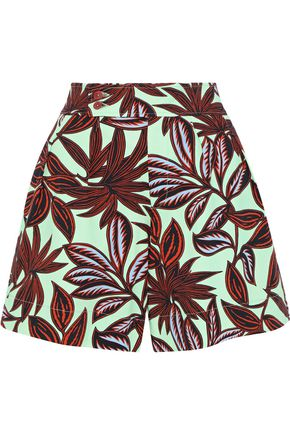 ETRO Printed stretch-cotton twill shorts