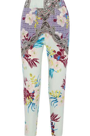 ETRO Printed silk slim-leg pants