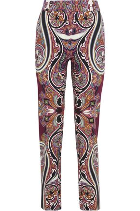 ETRO Printed ponte straight-leg pants