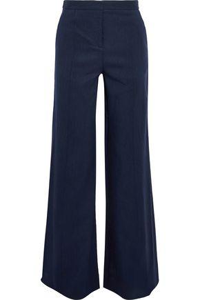 DIANE VON FURSTENBERG Linen-blend twill wide-leg pants