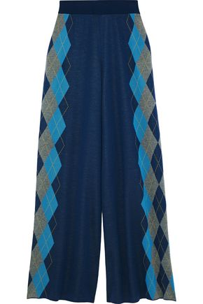 STELLA McCARTNEY Wool-jacquard wide-leg pants