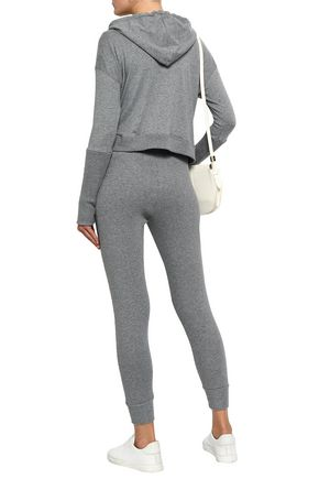 ENZA COSTA Cotton and cashmere-blend track pants
