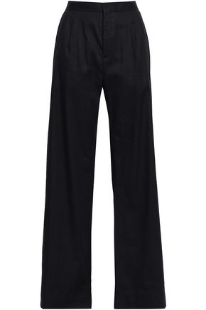 FILIPPA K Pleated linen-blend wide-leg pants
